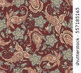 paisley seamless pattern with... | Shutterstock .eps vector #557185165