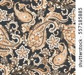 vintage floral seamless patten... | Shutterstock .eps vector #557185885
