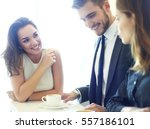 image of business meeting in a... | Shutterstock . vector #557186101