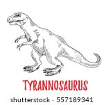 tyrannosaurus dinosaur.... | Shutterstock .eps vector #557189341