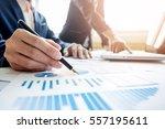 team work process. young... | Shutterstock . vector #557195611
