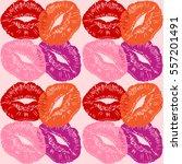 kiss.lips lip.valentines day... | Shutterstock .eps vector #557201491