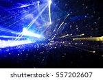 crowd at a rock concert... | Shutterstock . vector #557202607