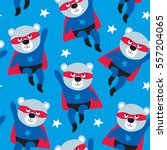 seamless superhero teddy bear... | Shutterstock .eps vector #557204065