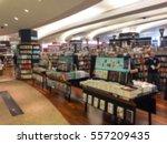 blur image of a bookstore | Shutterstock . vector #557209435