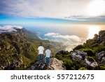 the concept of active tourism... | Shutterstock . vector #557212675