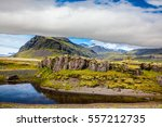 summer tour in the nordic... | Shutterstock . vector #557212735
