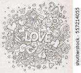 cartoon vector hand drawn... | Shutterstock .eps vector #557214055