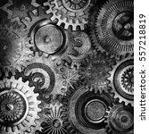 3d metallic gears background   Shutterstock . vector #557218819