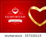happy valentines day greeting...   Shutterstock .eps vector #557220115