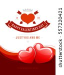 happy valentines day greeting...   Shutterstock .eps vector #557220421