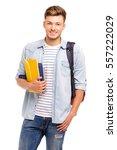 confident student. studio... | Shutterstock . vector #557222029