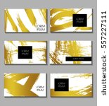 business card set. templates... | Shutterstock .eps vector #557227111