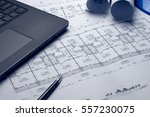 architectural plans project...   Shutterstock . vector #557230075