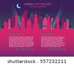 skyline with buildings  sky and ... | Shutterstock .eps vector #557232211