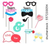 vector photo booth props for... | Shutterstock .eps vector #557233054