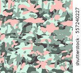 military print camouflage green ... | Shutterstock .eps vector #557240227