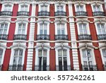 Red Painted Brick Facade With...
