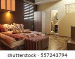 Stock photo lighting equipment electric lamp pillow hotel room hotel 557243794