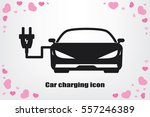 car charging icon vector... | Shutterstock .eps vector #557246389