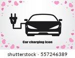 car charging icon vector... | Shutterstock .eps vector #557246389