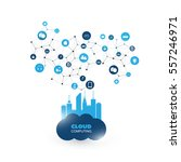 cloud computing design concept... | Shutterstock .eps vector #557246971