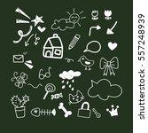 sketch doodle decoration... | Shutterstock .eps vector #557248939