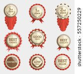 set of flat badges with text.... | Shutterstock .eps vector #557250229