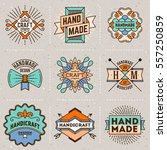 handmade craft insignias... | Shutterstock .eps vector #557250859