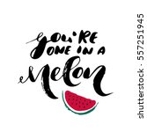 you're a one in a melon  ... | Shutterstock .eps vector #557251945