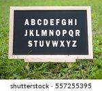 mini blackboard with alphabets...