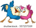 couple of loving birds | Shutterstock .eps vector #557257339