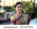 cheerful traditional indian... | Shutterstock . vector #557257591