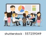 business conference concept... | Shutterstock .eps vector #557259349