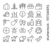 farm icons set on white...