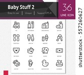 baby stuff elements vector... | Shutterstock .eps vector #557260627
