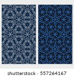 set of seamless geometric... | Shutterstock .eps vector #557264167