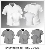 vector. men's t shirt and polo... | Shutterstock .eps vector #55726438