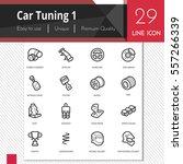 car tuning elements vector... | Shutterstock .eps vector #557266339
