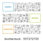 vector line web concept for... | Shutterstock .eps vector #557272735