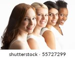 portrait of four attractive... | Shutterstock . vector #55727299