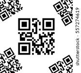vector card with qr codes. | Shutterstock .eps vector #557274619
