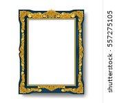 vintage picture frame  | Shutterstock .eps vector #557275105