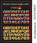 retro video game font 2 | Shutterstock .eps vector #557275957