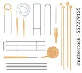 set of tools for knitting.... | Shutterstock .eps vector #557279125