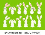 cute ostern rabbit vector...