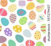 easter eggs seamless pattern.... | Shutterstock .eps vector #557279437