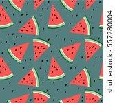 watermelon pattern | Shutterstock .eps vector #557280004