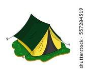 yellow tent icon in cartoon...   Shutterstock .eps vector #557284519