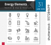 energy elements vector icons... | Shutterstock .eps vector #557284699